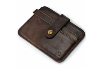 Business Men Leather Wallet Slim Card Holder Money Clip Wallet ID Case