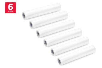 6 Pack Food Vacuum Sealer Rolls (28cm x 6m)