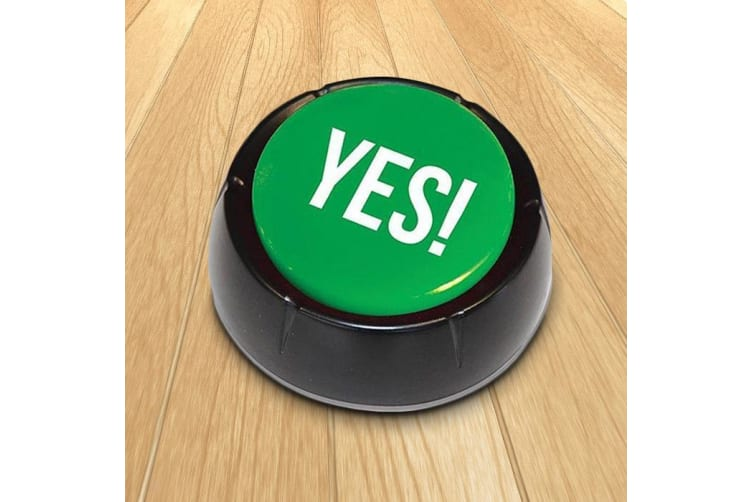 The Yes! Button | answer sound game prank gift toy recorded