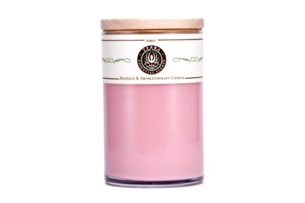 Terra Essential Scents Massage & Aromatherapy Candle - Rose (12oz)