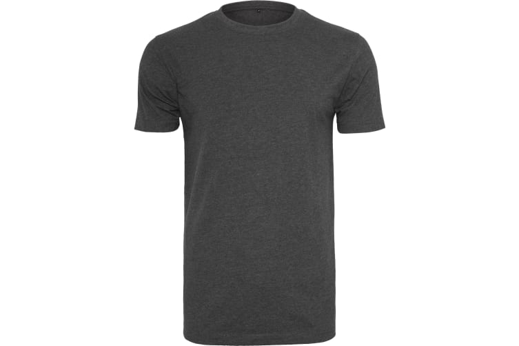 Build Your Brand Mens T-Shirt Round Neck (Charcoal) (3XL UK)