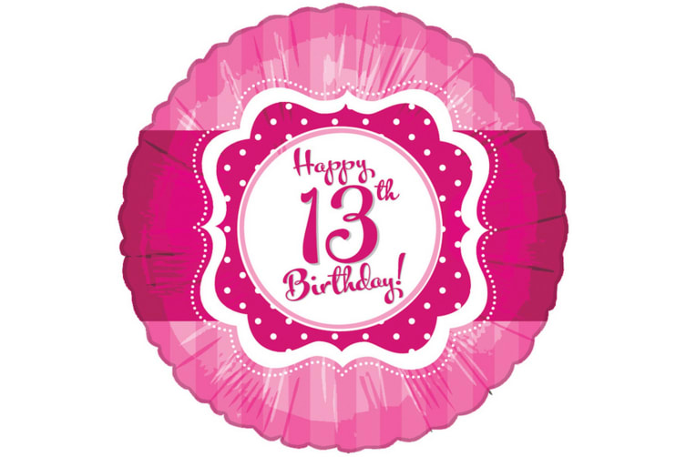 Creative Party Perfectly Pink Happy 13th Birthday Foil Balloon (Pink) (One Size)