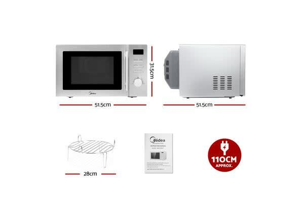Midea 34L 2100W Electric Convection Microwave Oven Kitchen Bench Countertop SR