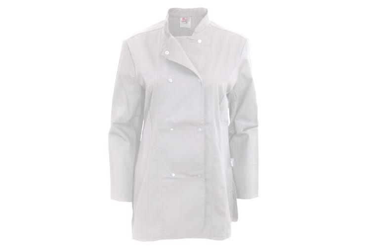 Dennys Womens/Ladies Long Sleeve Fitted Chef Jacket (White) (XL)