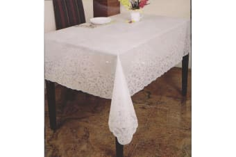 Embossed Vinyl Waterproof Square Tablecloth (Design 2) (54inch x 54inch)