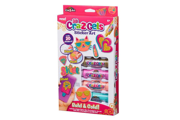 Cra-Z-Gels 3D Sticker Art Pack in Bold and Gold