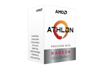 AMD Athlon 200GE, 4 Core AM4 CPU, 3.2GHz 4MB 35W with powerfull Radeon Vega Graphics