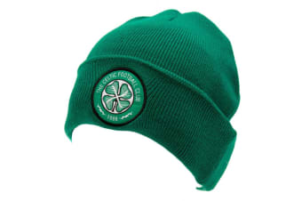 Celtic FC Unisex Adults TU Knitted Hat (Green)