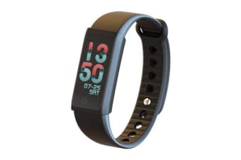 """TODO Bluetooth V4.0 Fitness Band Watch Heart Rate Spo2 Blood Pressure Ip67 0.96"""" Oled - Black"""