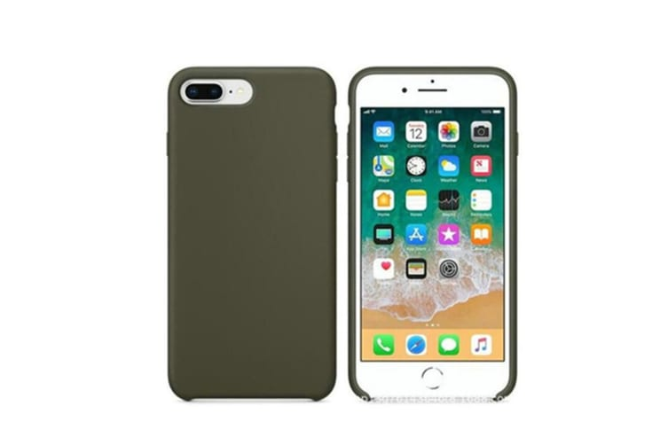 Silicone Gel Rubber Shockproof Protective Case Cover For Iphone Dark Olive 6Plus 6Splus(5.5)
