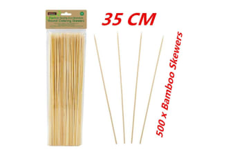 500 x 35CM Bamboo Skewers Wooden Skewer BBQ Kebab Meat Bulk Cheap Stick Party Catering