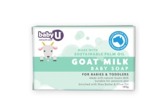 100g BabyU Goat Milk Baby/Kids Soap for All Skin with Shea Butter & Almond Oil