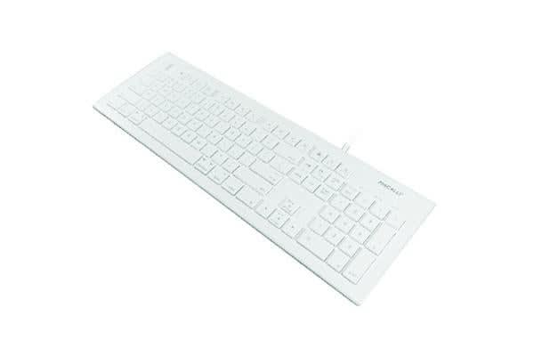OWC Macally 104 Key Full Size Slim USB-C Keyboard - Cable Connectivity - with MacOS X shortcut keys