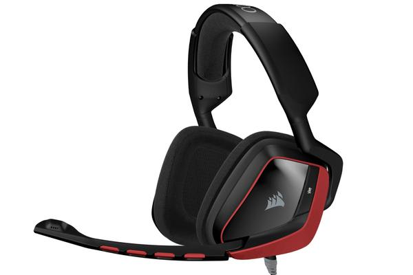 Corsair VOID Surround Hybrid Stereo - Cherry Red Dolby 7.1  Gaming Headset