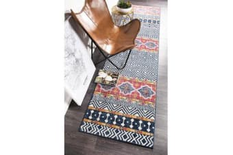 Amelia Multi Boho Durable Runner Rug 500x80cm