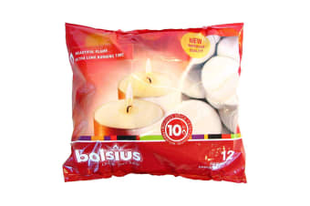 Bolsius Maxi Tealights (Pack of 12) (White) (60mm)