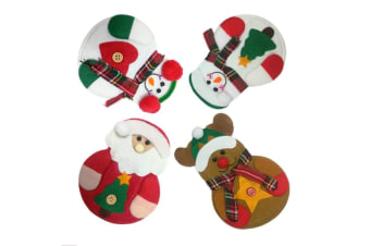 4 Pack Of Christmas Decoration,Restaurant,Hotel Layout,Knife And Fork,Creative Tableware,Tool Holder