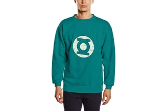 Green Lantern Unisex Adults Distressed Logo Crewneck Sweatshirt (Green) (S)