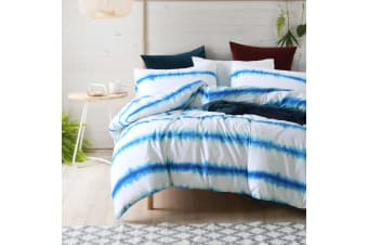 Dreamaker Shibori Printed quilt cover set Queen Bed Harmony