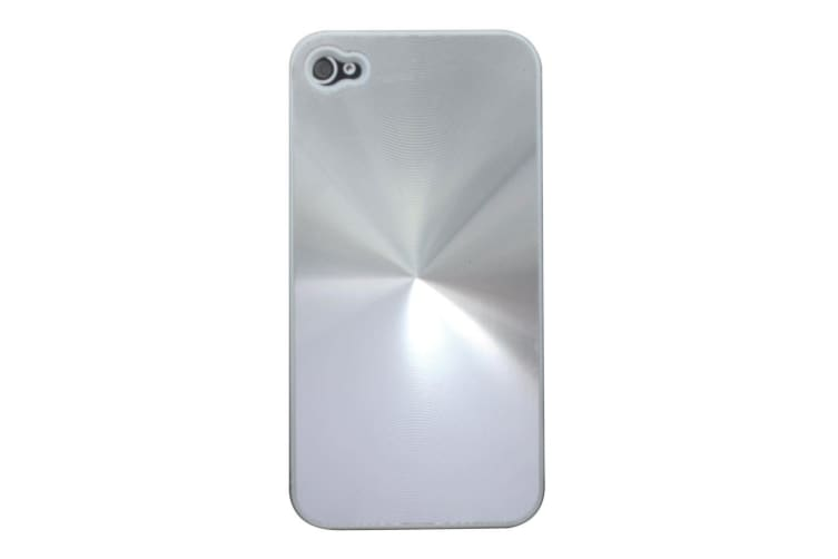 new product 29b84 87201 For iPhone 4S 4 Case Cool 3D Effect Durable Shielding Cover Silver