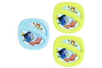 Disney Finding Nemo Toddler Sectioned Plate 3 Pack