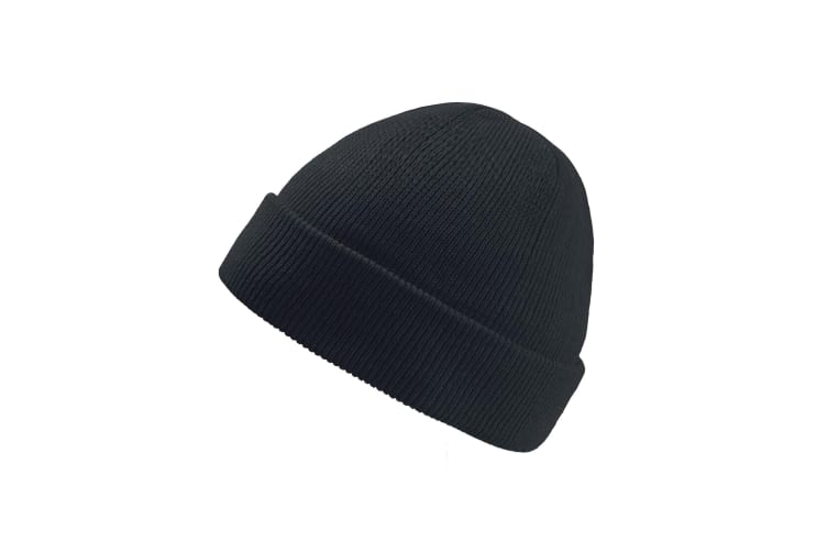 Atlantis Wind Childrens/Kids Double Skin Beanie With Turn Up (Black) (One Size)