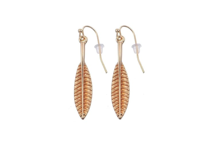 Intrigue Womens/Ladies Leafy Earrings (Gold) (One Size)
