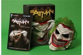 Batman - Death of the Family Book and Joker Mask Set