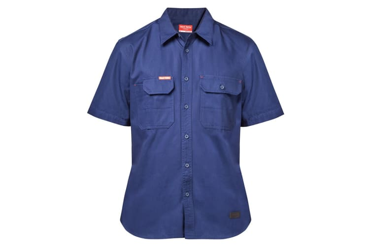 Hard Yakka Men's Legends Short Sleeve Shirt (Navy, Size M)