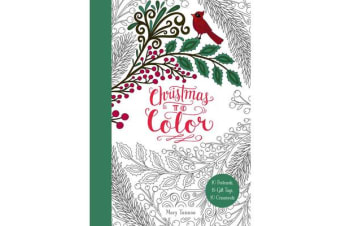 Christmas to Color - 10 Postcards, 15 Gift Tags, 10 Ornaments