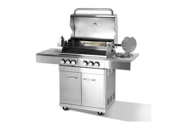 Grizze Stainless Steel 6 Burner Gas BBQ