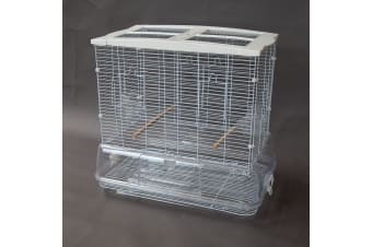 Flyline Messy Free Bird Cage for Canary Finch Budgie