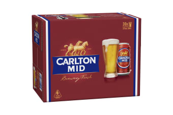 Carlton Mid Beer 30 x 375mL Cans