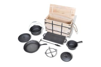 vidaXL Dutch Oven Set 9pcs