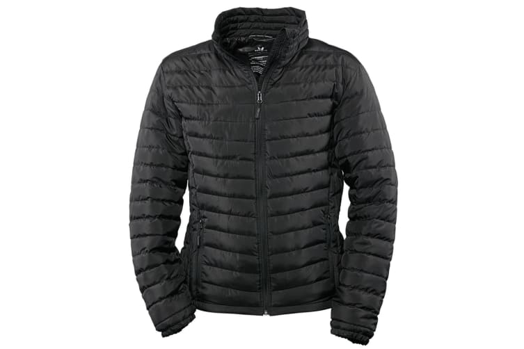 Tee Jays Mens Padded Zepelin Jacket (Black) (3XL)