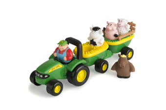 John Deere Animal Sounds Hayride Car/Tractor/Truck Toys For Children/Kids Fun
