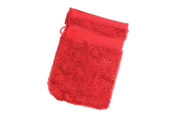 Jassz Travel Washing Glove/Bag (350 GSM) (Red)
