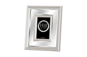 Hill Interiors Silver Bevelled Mirrored Photo Frame (Silver)