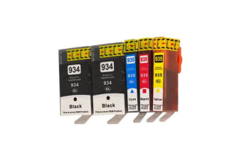 934XL Series Compatible Inkjet Cartridge Set PLUS Extra Black (5 Cartridges)