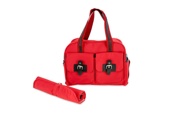 Bubbli Carry All Nappy Bag (Red)