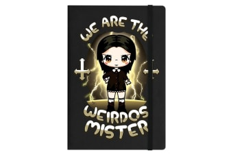 Mio Moon We Are The Weirdos Mister A5 Hard Cover Notebook (Black) (One Size)