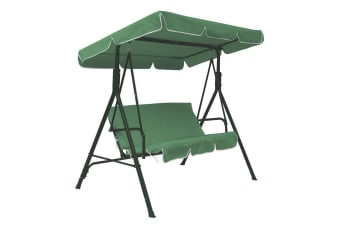 Jhoola 3 Seater Outdoor Swing Chair with Canopy - Green