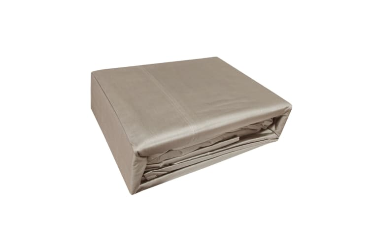 1000TC 100% Cotton Luxury Sheet Set Taupe Queen by Renee Taylor