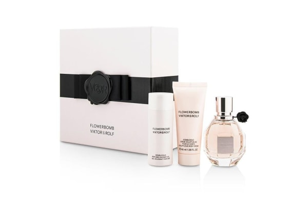 Viktor & Rolf Flowerbomb Coffret: Eau De Parfum Spray 50ml/1.7oz + Body Cream 40ml/1.36oz + Shower Gel 50ml/1.7oz (3pcs)