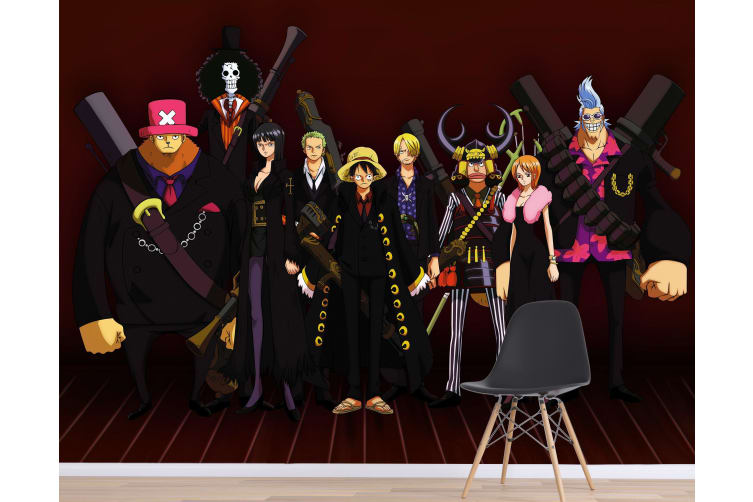 3D One Piece 046 Anime Wall Murals Woven paper (need glue), XXXL 416cm x 254cm (WxH)(164''x100'')