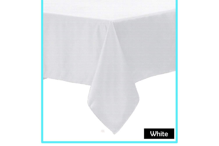 Polyester Cotton Tablecloth White 180 x 360 cm