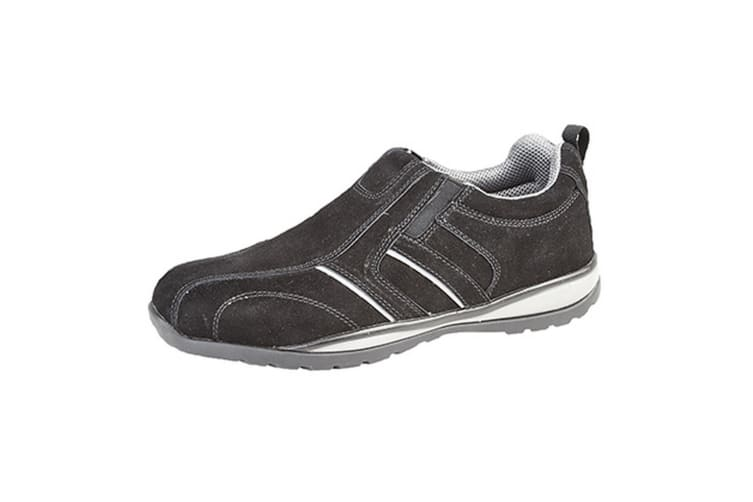 Grafters Mens Real Suede Casual Safety Trainer (Black) (11 UK)