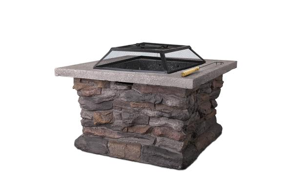 Outdoor Stone Fire Pit Table