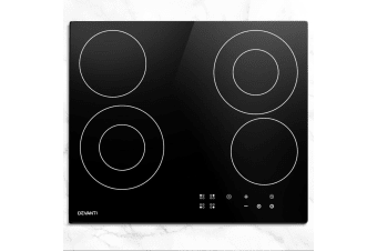Devanti Ceramic Cooktop 60cm Glass 6 Zone Touch Control Electric Kitchen Burner