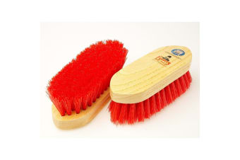 Equerry Wooden Polypropylene Dandy Brush (Red)